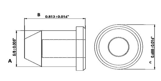 """PLUG PLASTIC FOR 9/16"""" - COMPONETES DE HULE"""